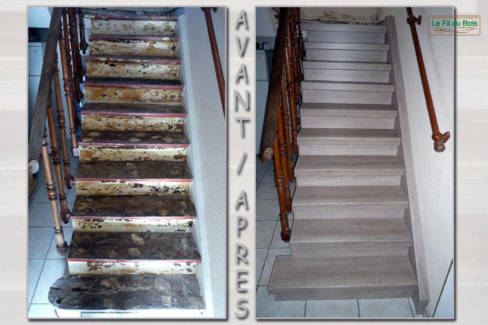Escalier Renovation Le Fil Du Bois