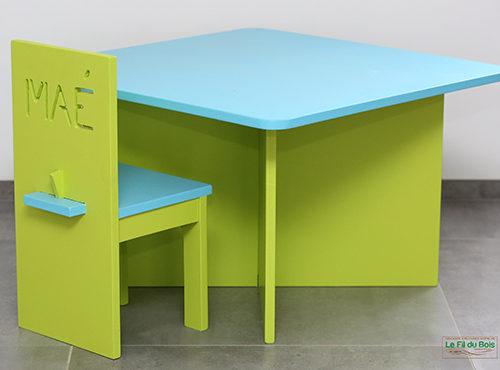 table chaise le fil du bois